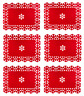 Christmas Xmas Table Mat Placemats Place Mats Sets Snowflake Dinner Set Of 4/6