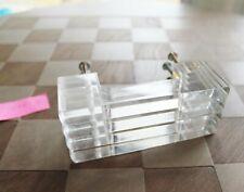 Vintage Midcentury Lucite Art Deco Dresser Draw Pulls (4) Handles Hardware Set 1