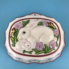 Le Cordon Bleu Franklin Mint Decorative Wall Ceramic Jelly Mould Rabbit Ex condi