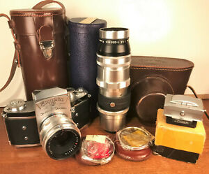 Ihagee EXAKTA VX camera, Zeiss Biotar f2/58mm & Piesker Tele-Picon 250mm lenses!