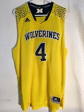 Adidas Swingman NCAA Jersey Michigan Wolverines #4 Yellow sz L