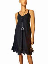in Granatrot 40 Damen Kleid mit Spitze und breiten Trägern