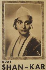 UDAY SHANKAR, danseur indien, 2 photographies et un programme salle Pleyel, 1936