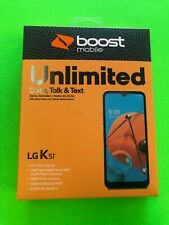 LG K51 - 32GB- Black- (Boost Mobile)- New 1-3 Month Promo Unlimited- NEW # ONLY