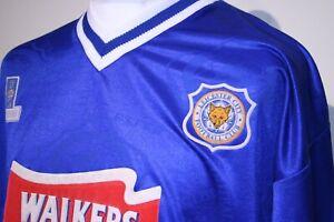 Leicester City 1996-97 Home Football Shirt - 46 / XL- #9 Botz Vintage Jersey Top