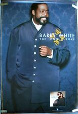 RARE BARRY WHITE ICON IS LOVE 1994 VINTAGE ORIG MUSIC RECORD STORE PROMO POSTER