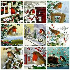 Christmas Robins Embellishments, 18 Card Making Toppers, Card Toppers