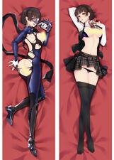 "59""Makoto Niijima Persona 5 combats Dakimakura Hug Body Pillow Case 150*50cm"