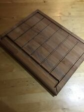 Hand Crafted Solid Wooden Chopping Board with grooves and built in tank