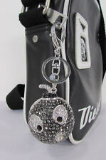 New big silver bird metal key chain wallet charm big angry boom rhinestones hot