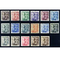 ✔️★★ EDIFIL 919/935 - GENERAL FRANCO DENTADO GRUESO (+600€) ★★