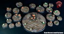 Figure Painters Bases Grym Harvest and Barren Field bundle, Warmachine Grymkin