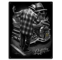 DGA David Gonzales Art Perfection Lowrider Cholo Gangster Tin Metal Sign 12 x 16