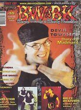 #55 BW & BK vintage import music magazine - DEVIN TOWNSEND - KREATOR