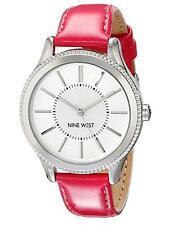 Nine West Women's Quartz Watch with Pink PU Strap
