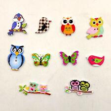 50Pcs Mixed Cartoon Animal 2 Holes Wood Button Sewing Scrapbook DIY Craft Fashio