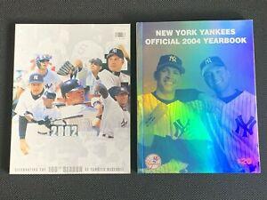 Lot of 2 New York Yankees MLB Baseball Official Team Yearbooks  2002 & 2004