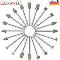 GOXAWEE 20x Diamant Schleifbohrer  Schleifstifte für Dremel Rotationswerkzeuge