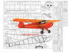 """Model Airplane Plans (FF): TAYLORCRAFT 54"""" Scale Rubber Powered (Comet)"""