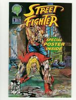 Street Fighter #2 Malibu Comics 1993 With Poster VF/NM Condition