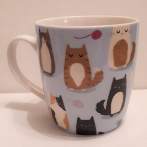 "Lovely ""Feline Fine"", Cats Bone China Cat Mug, boxed, NEW"