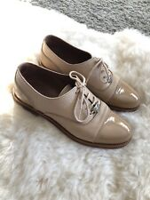 Russell And Bromley Abacrombie Shoes Size 3 36 Lace Up Oxford Beige FlatsRRP£195