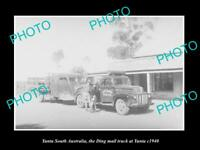 OLD LARGE HISTORIC PHOTO OF YUNTA SOUTH AUSTRALIA THE DING MAIL TRUCK c1940