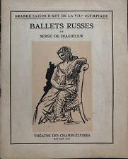 BALLETS RUSSES GRANDE SAISON DE LA VIIIe OLYMPIADE 1924