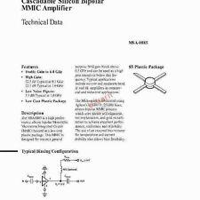 Agilent MSA0885 SMT85,Cascadable Silicon Bipolar MMIC