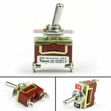 1x Toowei 2 Terminal 2pin On Off 15a 250v Toggle Switch Reset Grade Yu