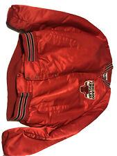Vintage 90s Chalk Line Chicago Bulls Nylon Satin Bomber Jacket Red Large L USA