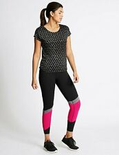 MARKS SPENCER M&S WOMENS ACTIVE ASYMMETRIC PRINT GYM RUNNING SPORTS LEGGINGS 6