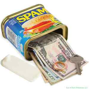 SPAM ® OFFICIALLY LICENSED - Decoy Safe Home Bank - hide cash jewelry gold
