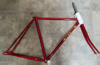 On-One Licolnshire Poacher 58cm lugged single speed road frame Fleur de Lys lugs