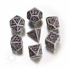 Dadi Q-Workshop Celtic 3D Revised Gray & Black Dice Set