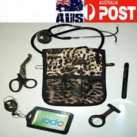 Nurse pouch +stethoscope + nurse watch+ penlight neuro torch+ scissor +ID holder