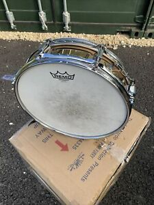 "Free P&P. 13x3"" 1989 Ludwig Piccollo Snare Drum. Monroe Badge. Bronze Shell EJ1"