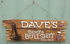 TIMBER SIGN, BAR SIGN, MAN CAVE SIGN, SHED SIGN, Australian Made