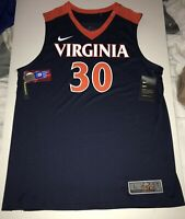 New Nike Men's Virginia Cavaliers UVA Elite Basketball Jersey Large $75 #30