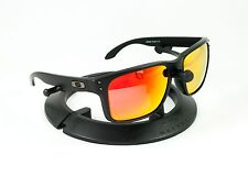 OAKLEY HOLBROOK MATTE BLACK GUNMETAL FRAME / REVANT FIRE RED POLARIZED CUSTOM