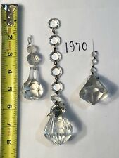 Crystal Chandelier Part 3 Pcs Asst  Pyramid And Diamond Ball