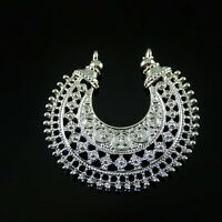 Wholesale 10pcs Silver Tone Alloy Half Moon Look Charms Pendant Jewelry Findings