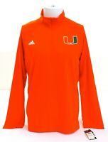 Adidas ClimaLite Orange University of Miami Long Sleeve 1/4 Zip Shirt Men's M