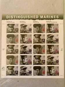 US Stamps SC# 3964a Distinguished Marines 37c sheet of 20 2005