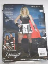Plus Size Women's Black Silver Medieval Warrior Costume Cosplay Halloween Sexy