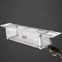 Double door reusable catching mouse traps bait snap rodent catcher mice cage ZH
