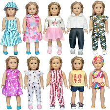 """18"""" Doll Clothes Accessories American Girl Dolls My Life Our Generation 10 Sets"""