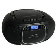 Medion MD44176 CD-Player Radio Kassettenspieler Boombox Tragbar USB Retro