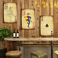 Gambling Poker Cards Wall Art Canvas Painting Pictures Prints Casino Home Decor