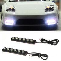 Universal 6 LED Car Daytime Running Light DRL Flexible Daylight Fog Lights 12V
